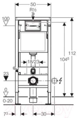 Унитаз подвесной с инсталляцией Duravit Set D-Code Rimmless (45700900A1+458103001)