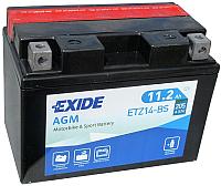Мотоаккумулятор Exide Bike Maintenance Free ETZ14-BS (11.2а/ч) -