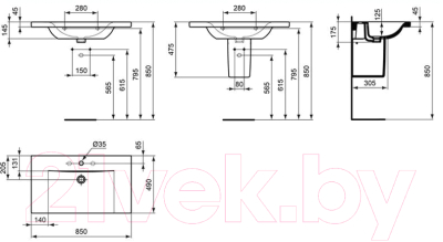 Умывальник Ideal Standard Connect E812701