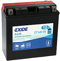 Мотоаккумулятор Exide ET14B-BS (12 А/ч) -