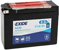 Мотоаккумулятор Exide ET4B-BS (2.3 А/ч) -