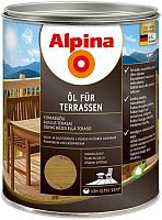 Масло для древесины Alpina Oel Fuer Terrassen (750мл, средний) -