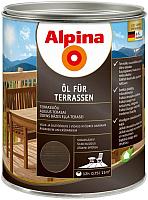 Масло для древесины Alpina Oel Fuer Terrassen (750мл, темный) -