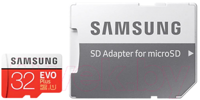 Карта памяти Samsung EVO Plus microSDHC 32GB + адаптер (MB-MC32GA)