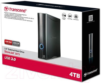 Внешний жесткий диск Transcend StoreJet 35T3 4TB (TS4TSJ35T3)