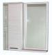 Шкаф с зеркалом для ванной СанитаМебель Прованс 101.700 L (гасиенда) -