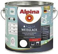 Эмаль Alpina Aqua Weisslack (750мл, глянцевая) -