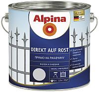 Эмаль Alpina Direkt auf Rost RAL7040 (2.5л, серый) -
