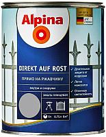 Эмаль Alpina Direkt auf Rost RAL9006 (750мл, серебристый) -