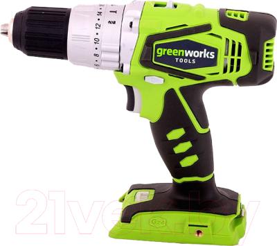 Аккумуляторная дрель-шуруповерт Greenworks G24CD (3801107)