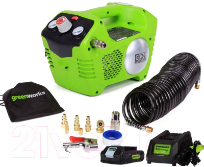 Воздушный компрессор Greenworks G24AC