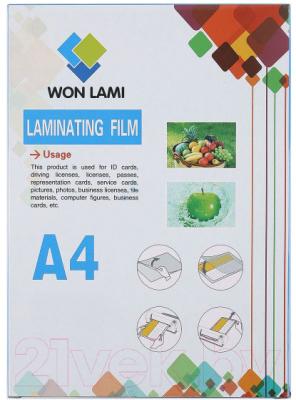 Пленка для ламинирования WF А4, 216х303мм 60мкм, 100шт