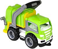 Мусоровоз игрушечный Полесье ГрипТрак коммунальный / 6257 (в сеточке) -