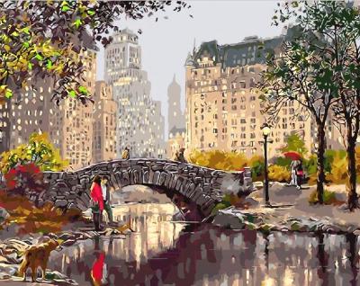 Картина по номерам Picasso Мост в городском парке (PC4050217)