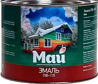 Эмаль Ярославские краски Май ПФ-115 (1.9кг, красный) -