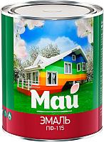 Эмаль Ярославские краски Май ПФ-115 (800г, серый) -