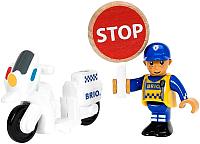 Аксессуар для железной дороги Brio Полицейский мотоцикл 33861 -