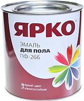 Эмаль Ярославские краски Ярко для пола ПФ-266 (900г, желто-коричневый) -