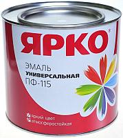 Эмаль Ярославские краски Ярко ПФ-115 (900г, красный) -