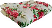 Одеяло Angellini 5с315п (150x205, желтый/розы) -