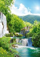 Фотообои Твоя планета Люкс Каскад водопадов (194x272) -