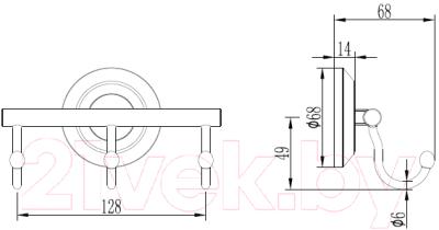 Крючок для ванной Ledeme L204-3