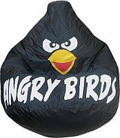 Бескаркасное кресло Flagman Груша Макси Angry Birds Г2.1-048 (черный) -