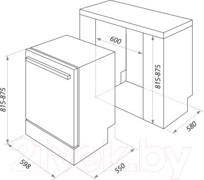Посудомоечная машина Maunfeld MLP 12B