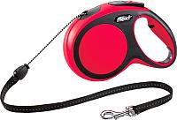 Поводок-рулетка Flexi New Comfort трос M (8м, красный) -