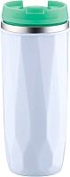 Термокружка Peterhof Vacuum Travel Mug PH-12424 (белый/зеленый) -