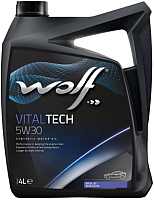 Моторное масло WOLF VitalTech 5W30 / 14115/4 (4л) -