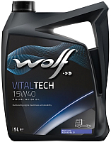 Моторное масло WOLF VitalTech 15W40 / 14636/5 (5л) -