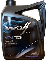Моторное масло WOLF VitalTech 5W40 / 16116/4 (4л) -