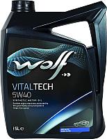 Моторное масло WOLF VitalTech 5W40 / 16116/5 (5л) -