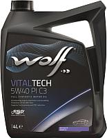 Моторное масло WOLF VitalTech 5W40 PI C3 / 21116/4 (4л) -