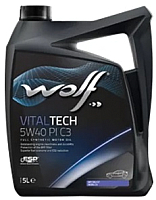 Моторное масло WOLF VitalTech 5W40 PI C3 / 21116/5 (5л) -