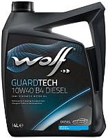 Моторное масло WOLF Guardtech B4 Diesel 10W40 / 23126/4 (4л) -