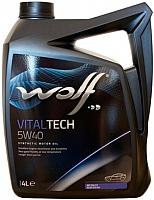 Моторное масло WOLF VitalTech 5W40 B4 Diesel / 26116/4 (4л) -