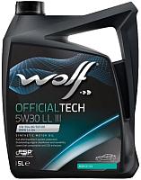 Моторное масло WOLF OfficialTech 5W30 LL III / 65604/5 (5л) -