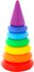 Развивающая игрушка Полесье Пирамидка. Колечко-конус / 62376 -