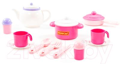 Набор игрушечной посуды Полесье Настенька на 2 персоны / 58997