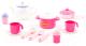 Набор игрушечной посуды Полесье Настенька на 2 персоны / 58997 (18эл) -