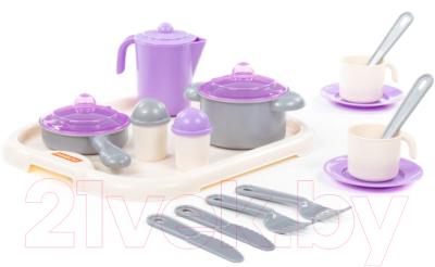 Набор игрушечной посуды Полесье Настенька с подносом на 2 персоны / 3940