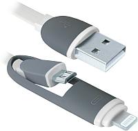 Кабель Defender USB10-03BP / 87493 (белый) -