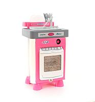 Посудомоечная машина игрушечная Полесье Carmen №3 с посудомоечной машиной и мойкой / 47946 (в пакете) -