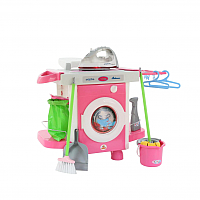 Комплект бытовой техники игрушечный Полесье Carmen №6 с аксессуарами и утюжком / 48110 (в пакете) -
