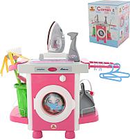 Комплект бытовой техники игрушечный Полесье Carmen №6 с аксессуарами и утюжком / 58850 (в коробке) -