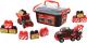 Набор игрушечных автомобилей Полесье Mammoet с автомобилем-эвакуатором / 57143 -