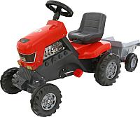 Каталка детская Полесье Turbo трактор с педалями и полуприцепом / 52681 -