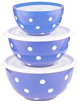 Набор салатников Berossi Marusya ИК 22408000 (светло-голубой) -